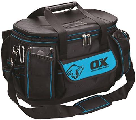 OX P261645 Pro Super Open Mouth Tool Bag, Black/Blue