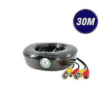 Cable de vídeo para cámaras de vigilancia de circuito cerrado (conectores BNC macho y de alimentación): Amazon.es: Electrónica
