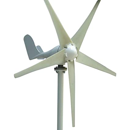 Homgrace Wind Turbine 400W DC 24V Hybrid Controller Wind Turbine Generator  Indoor Outdoor Using of 6 Blades Marine Businesses and Industrial Energy