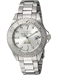 Invicta Womens Pro Diver Quartz Stainless Steel Diving Watch, Color:Silver-Toned (Model: 24630)