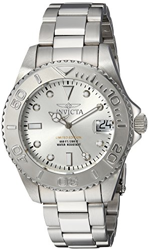 Invicta Women's 'Pro Diver' Quartz Stainless Steel Diving Watch, Color:Silver-Toned (Model: 24630) by Invicta