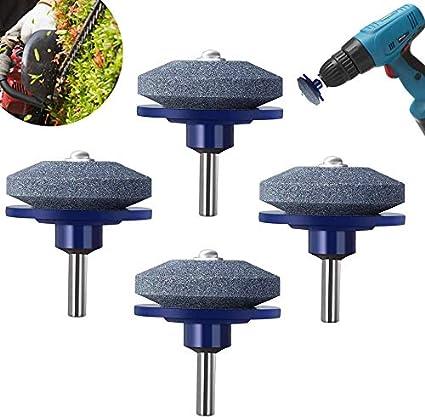 New 2PC Lawn Mower Sharpener Faster Blade Grinding Power Drill Garden Tool US