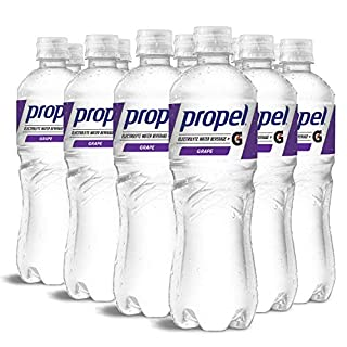 Propel, Grape, Zero Calorie Water Beverage with Electrolytes & Vitamins C&E, 24 Fl Oz (Pack of 12)
