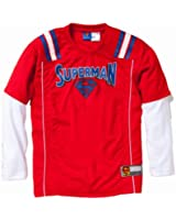 Superman Boys Long Sleeve Jersey w/ Screen Print Logo