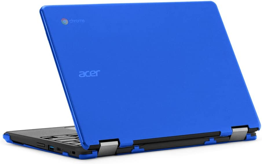 """mCover iPearl Hard Case for 11.6"""" Acer Chromebook Spin 11 R751T CP311 CP511 Series (NOT Compatible with R11 CB5-132T / C738T, C720/C730/C740/CB3-111/CB3-131 Series) Convertible Laptop (Blue)"""