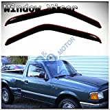 vent shades 2001 ford ranger - D&O MOTOR 2pcs In-Channel Front Doors Smoke Sun/Rain Guard Wind Deflector Tape-On Vent Shade Window Visors For 93-11 Ford Ranger 94-10 Mazda B2300/B2500/B3000/B4000 Regular & Extended Cab