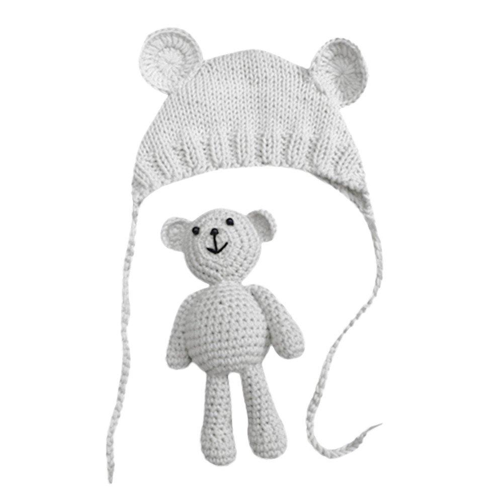 VEKDONE Baby Hat ACCESSORY ベビーガールズ  ホワイト B07GXB8FQJ