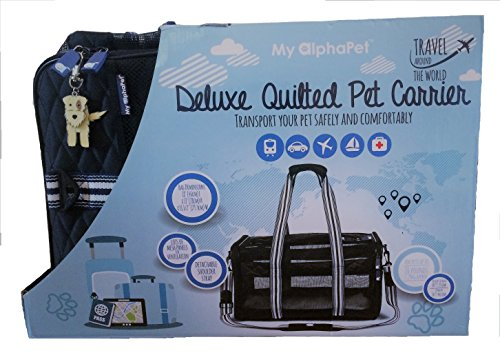 LargeMed-Sized-Deluxe-Soft-Sided-Cat-Dog-Carrier-Airline-Approved-Foldable-Design-with-Removable-Fleece-Bed