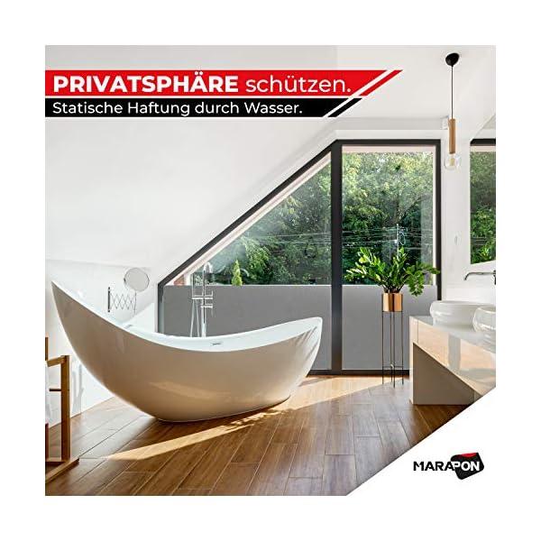 51al1lBLmyL MARAPON ® Sichtschutzfolie Fenster in Anthrazit [45x200 cm] inkl. eBook mit Profitipps - Fensterfolie selbsthaftend…