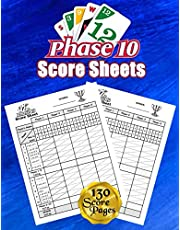 Phase 10 Score Sheets: 130 Large Score Pads for Scorekeeping – Phase 10 Score Cards | Phase 10 Score Pads with Size 8.5 x 11 inches
