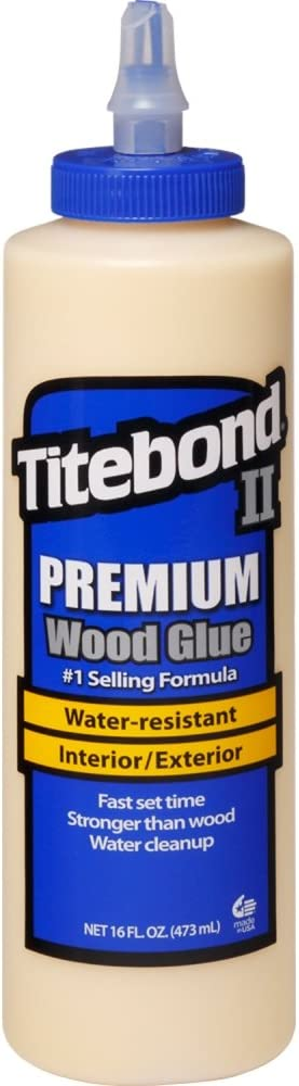 Titebond 5004 II Premium Wood Glue, 16-Ounces,Honey Cream