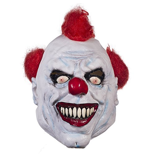 Clowns Are Scary As Hell (The Mask Biz Murderer Scary Clown Head Mask Halloween - Latex)