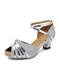 Minitoo GL193B Women's Knot Satin Synthetic Latin Professional Dance Shoes Wedding Evening Sandals
