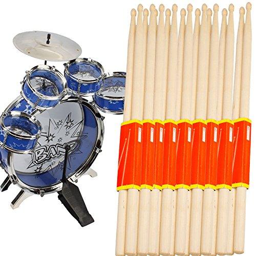 10-pair-music-band-maple-wood-drum-sticks-drumsticks-5a