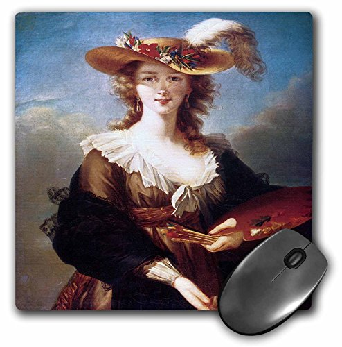 (3dRose BLN Portrait Gallery by the Masters Fine Art Collection - Self-Portrait by Elisabeth Vigee-Lebrun - MousePad (mp_128109_1))