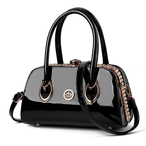 Nevenka Brand Fashion Women Bags Evening bags Shoulder Bag Totes Satchel Crossbody Handbags (BLACK)