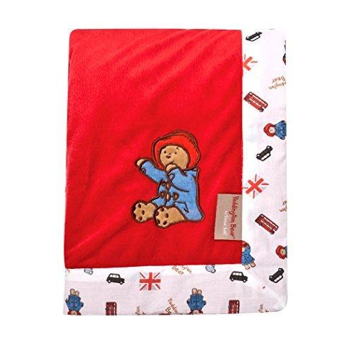 Trend Lab Paddington Bear Framed Red Velour Receiving Blanket by Trend Lab [並行輸入品]   B00ZVOMBIE