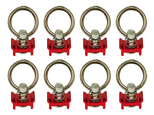 (Pit Posse S Track Single Stud Ring (Spring Loaded) Red-8pk)