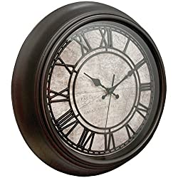 Westclox 32224 14 Round Wall Clock Map Face Raised Numbers Home & Garden Improvement