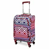 """Aerolite 22x14x9"""" Carry On MAX Lightweight Upright Travel Trolley Bags Luggage Suitcase, 4"""