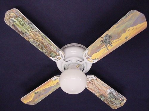 Ceiling Fan Designers Ceiling Fan, Army Tanks Military Helicopter, 42'