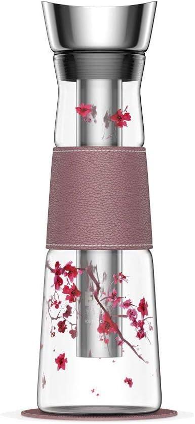 EigenART Carafe en Verre Conique Motif Cerisier