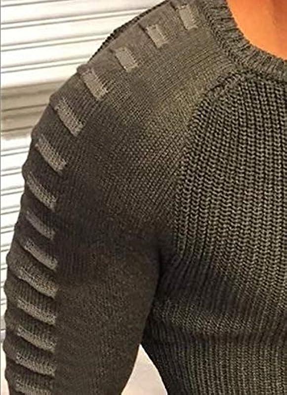 Laisla fashion męski sweter z długim rękawem, okrągły dekolt, mieszany kolory, klasyczny, na wiosnę, jesień, modny, czas wolny, przytulny, dopasowany sweter z dzianiny dla chłopcÓw