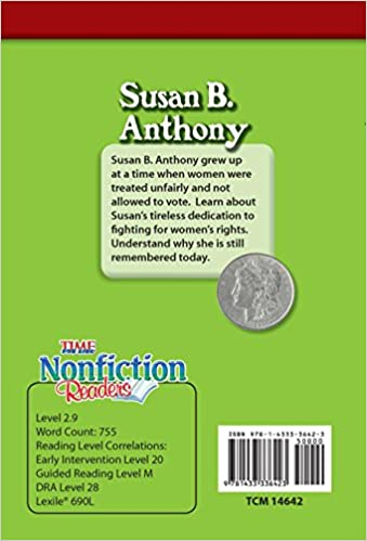 Amazon.com: Susan B. Anthony (TIME FOR KIDS® Nonfiction Readers ...
