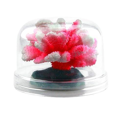 Piebo Acuario Luminoso Flores Coral Decoración Acuario Paisaje Coral Diseño acuático