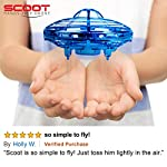 """Drones for Kids Mini Quadcopter Drone – """"Force1 Scoot"""" Hands Free Hover Drone w/ 3 Micro Drone Sensors for Autopilot for Beginner Drones Flying Toys"""