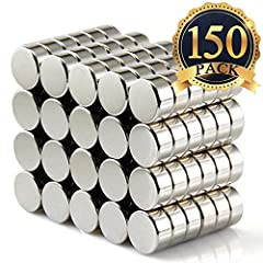 About The FINDMAG Small Disc Magnets Colour: Silver Quantity:Set of 150 Shape: Round SIZE:6mm X 3mmMulti-Use As For The Prefect Size and Magnetic,FINDMAG Mini Magnets Can be Easily Stick to any Stainless Steel refrigerator, Washing machine, o...