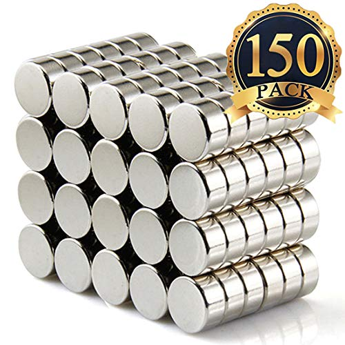 FINDMAG 150Pieces 6X3mm Premium Brushed Nickel Pawn Style Magnetic Push Pins,Fridge Magnets, Office Magnets, Dry Erase Board Magnetic pins, Whiteboard Magnets,Refrigerator Magnets ()