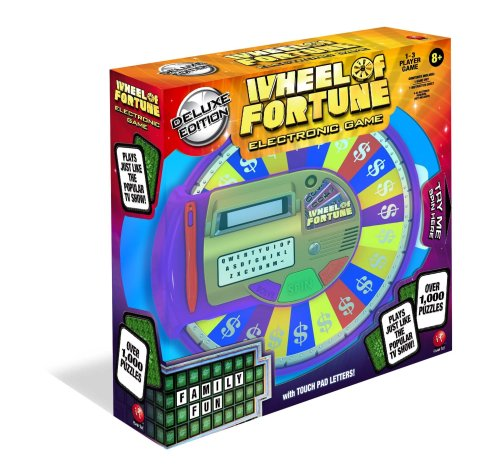 Itoys Wheel of fortune Electronic Tabletop Game, Deluxe Edition (Wheel Of Fortune 4th Edition Board Game)