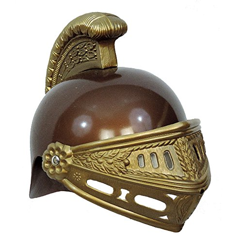 [Kid's Gold Brown Plastic Roman Trojan Costume Helmet] (Trojan Halloween Costumes)