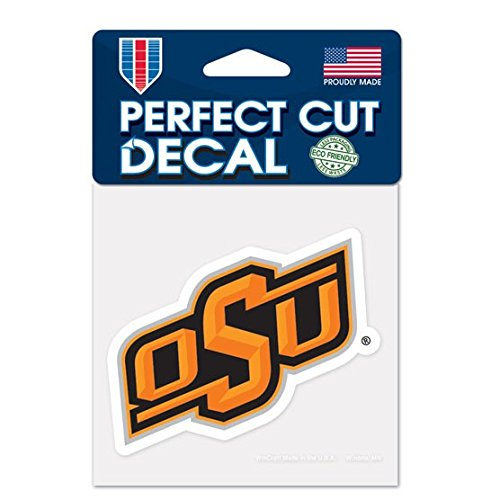 """WinCraft NCAA Oklahoma State University Perfect Cut Color Decal, 4"""" x 4"""""""