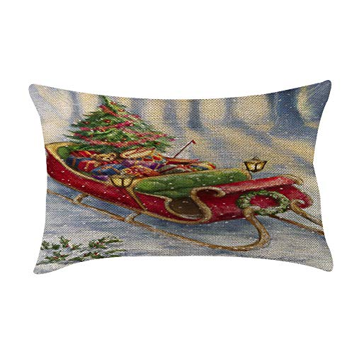 ♫ Toponly Christmas Decoration Festival Pillow Case Cushion Cover(20x12inch) ()