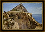 """The Rock of Gibraltar by Frederick Richard Lee - 15"""" x 22"""" Framed Canvas Art Print - Ready to Hang"""