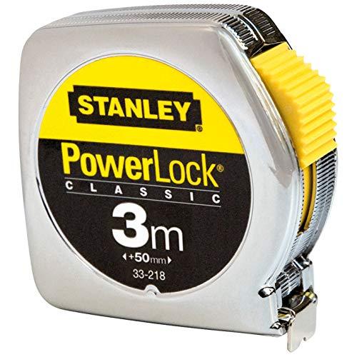 Stanley Cinta m/étrica Powerlock-Caja met/álica-3 m 0-33-218