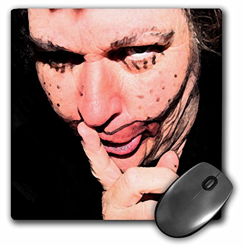 3dRose Jos Fauxtographee Realistic - Lady Dressed Up Like Ugly Clown for Halloween With Her Finger to Her Mouth Saying SHHHHH - MousePad -
