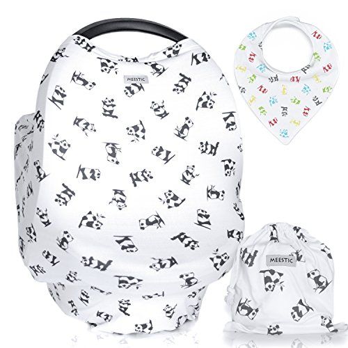 Read About Premium Breastfeeding Cover Nursing Scarf - Multi-Function Car Seat Canopy, Stroller Cove...