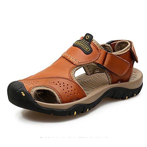 Homme Ferm de Sandale Cuir Bout Chaussure qUS0qwY