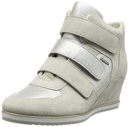 platinumc0997 Femme Blanc ivory Hautes Geox Sneakers Illusion D nPCfqPwUH