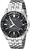 Citizen Men's Eco-Drive World Perpetual Atomic Timekeeping Stainless Steel Watch with Date, CB0020-50E