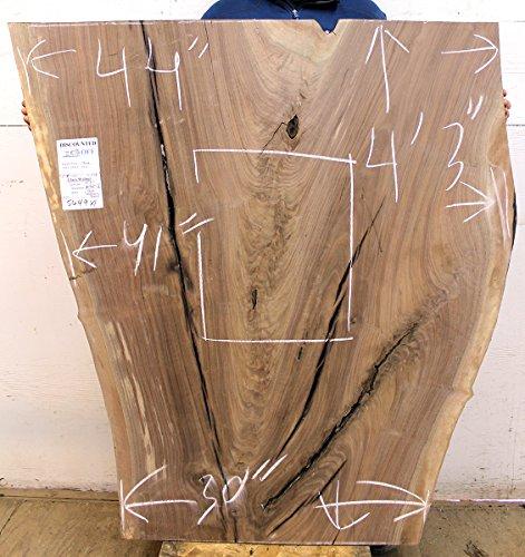 Figured Unfinished Live Edge Table Top Kitchen Island Natural Claro Walnut Raw  Wood Slab Custom Furniture