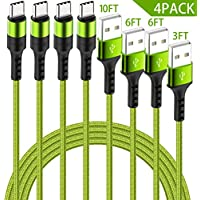 4-Pack HaoKande USB Type C Nylon Braided Long Cable