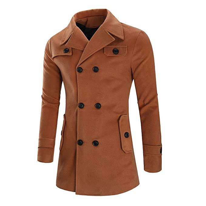 Vestido De Fiesta Hombre Chaqueta para Hombre Abrigo De Invierno Cálido Botón Largo Outwear Abrigo Elegante