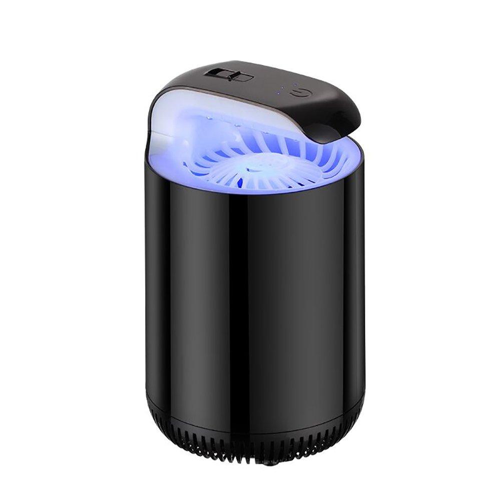Mosquito Killer Home Indoor Plug-in USB Donne incinte Inalazione del bambino Cattura Mosquito Repellent Artefatto Lampada della zanzara automatica (Colore : Nero) YEZIJIAJU