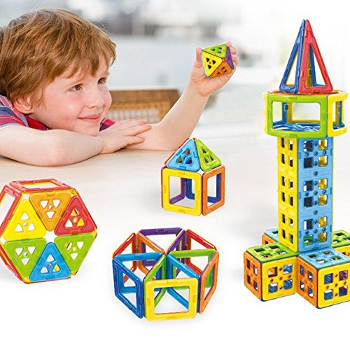 OOFAY 102 Pcs Magnetic Blocks Creative Magnetic Building Blocks Magnetic Tiles Set For 3D Construction For Kids Age 3+ Educational Toys For Kids by OOFAY (Image #7)