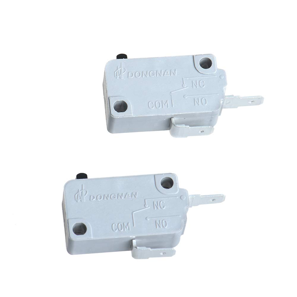 Yowming 2 Pin KW3A 1PCS Normally Open+ 1PCS Normally Close Microwave Oven Door Micro Switch for Microwave, Washer, Rice Cooker 16A 125/250V