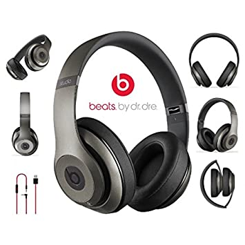 Beats by Dr. dre Studio 2 Wireless Auricular Supra oído inalámbrico Titanium: Amazon.es: Electrónica